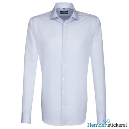 Seidensticker Hemd SHAPED 1/1 Arm Kent-Kragen Blau