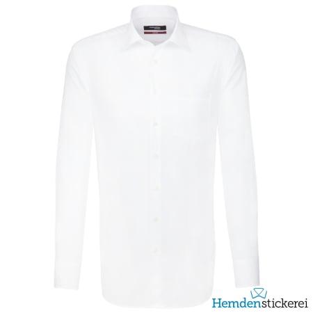 Seidensticker Hemd REGULAR 1/1 Arm Kent-Kragen Brusttasche extra lang Weiß