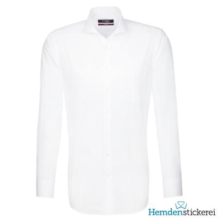 Seidensticker Hemd REGULAR 1/1 Arm Hai-Kragen Brusttasche Weiß
