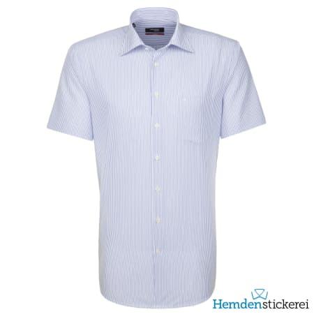 Seidensticker Hemd REGULAR 1/2 Arm Kent-Kragen Blau
