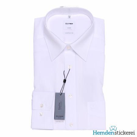 Olymp Herren Hemd Luxor COMFORT FIT 1/1 Arm Kent-Kragen mit Brusttasche Weiß