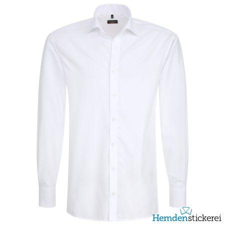 Eterna Herren Hemd MODERN FIT Popeline 1/1 Arm Classic Kent-Kragen Weiß