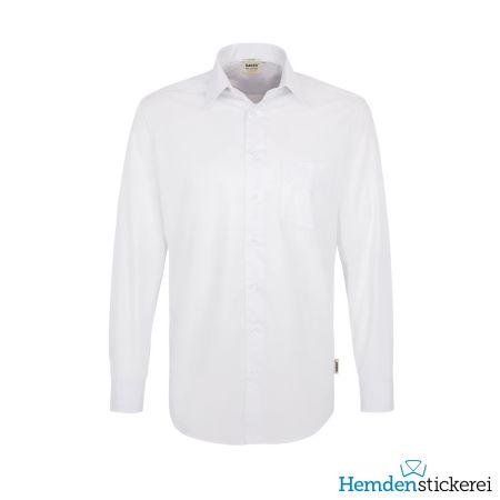 Hakro Herren Hemd 1/1 Arm Performance Kent-Kragen mit Brusttasche Weiß