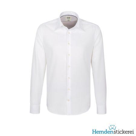 Hakro Herren Hemd 1/1 Arm Business Tailored Kent-Kragen Weiß