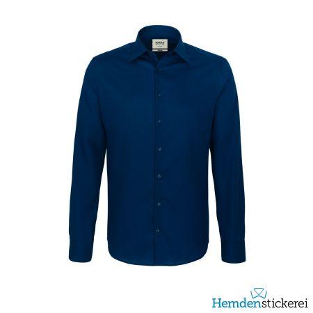 Hakro Herren Hemd 1/1 Arm Business Tailored Kent-Kragen Marine