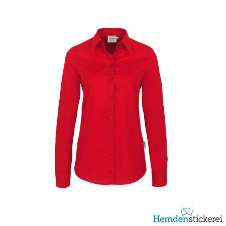Hakro Damen Bluse 1/1 Arm Performance Kent-Kragen Rot