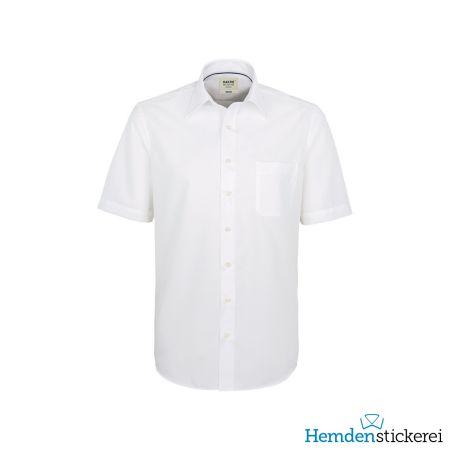 Hakro Herren Hemd 1/2 Arm Business Kent-Kragen mit Brusttasche Weiß