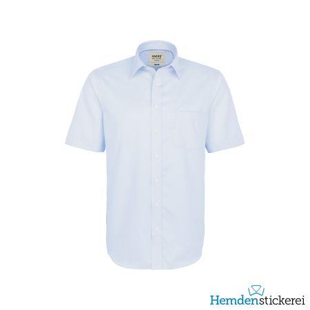 Hakro Herren Hemd 1/2 Arm Business Kent-Kragen mit Brusttasche Himmelblau