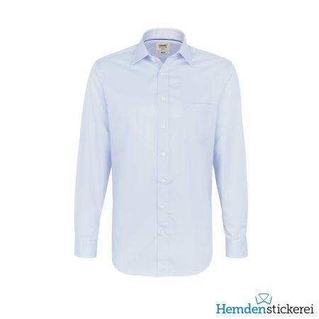 Hakro Herren Hemd 1/1 Arm Business Kent-Kragen mit Brusttasche Himmelblau