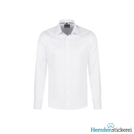 Hakro Herren Hemd 1/1 Arm Oxford Kent-Kragen Weiß