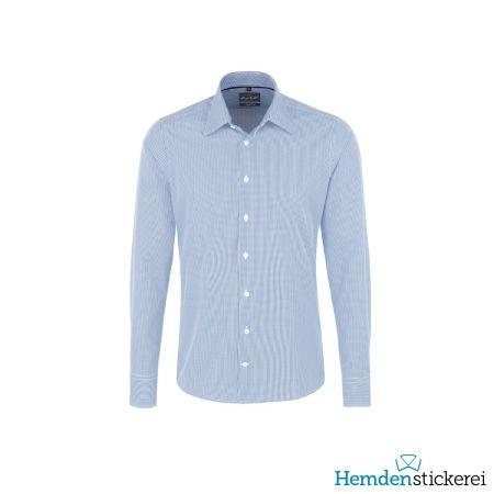 Hakro Herren Hemd 1/1 Arm Vichy Karo Kent-Kragen Pastellblau
