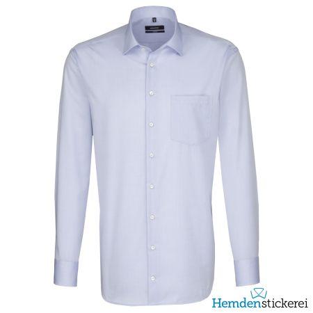 Seidensticker Herren Hemd COMFORT 1/1 Arm Kent-Kragen mit Brusttasche bügelfrei Kent-Kragen Blau