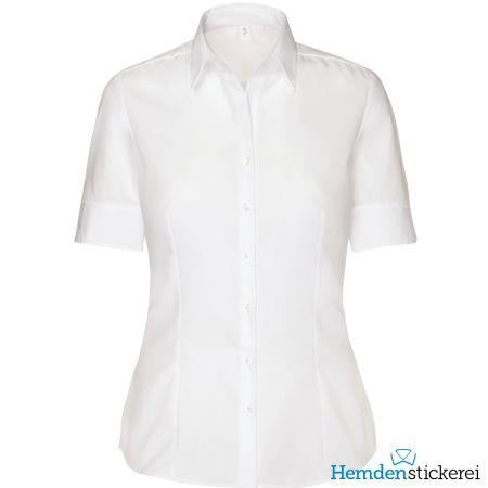 Seidensticker Damen Bluse MODERN 1/2 Arm mit Kragen bügelfrei Weiß