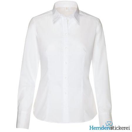 Seidensticker Damen Bluse MODERN 1/1 Arm mit Kragen bügelfrei Weiß