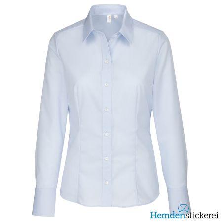 Seidensticker Damen Bluse MODERN 1/1 Arm mit Kragen bügelfrei Blau