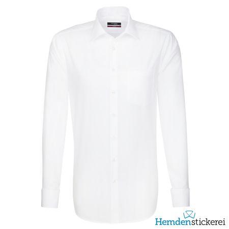 Seidensticker Herren Hemd MODERN 1/1 Arm Kent-Kragen mit Brusttasche bügelfrei Weiß