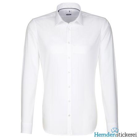 Seidensticker Herren Hemd X-SLIM 1/1 Arm Kent-Kragen bügelfrei Weiß