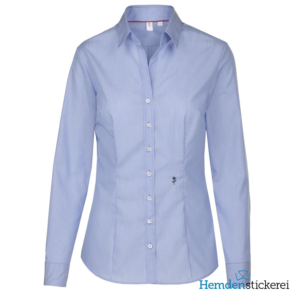 ... Seidensticker Damen Bluse SLIM 1 1 Arm Kent-Kragen bügelfrei Blau  kariert Seite zurück. inkl. Stick. lightbox 6300d35cf0