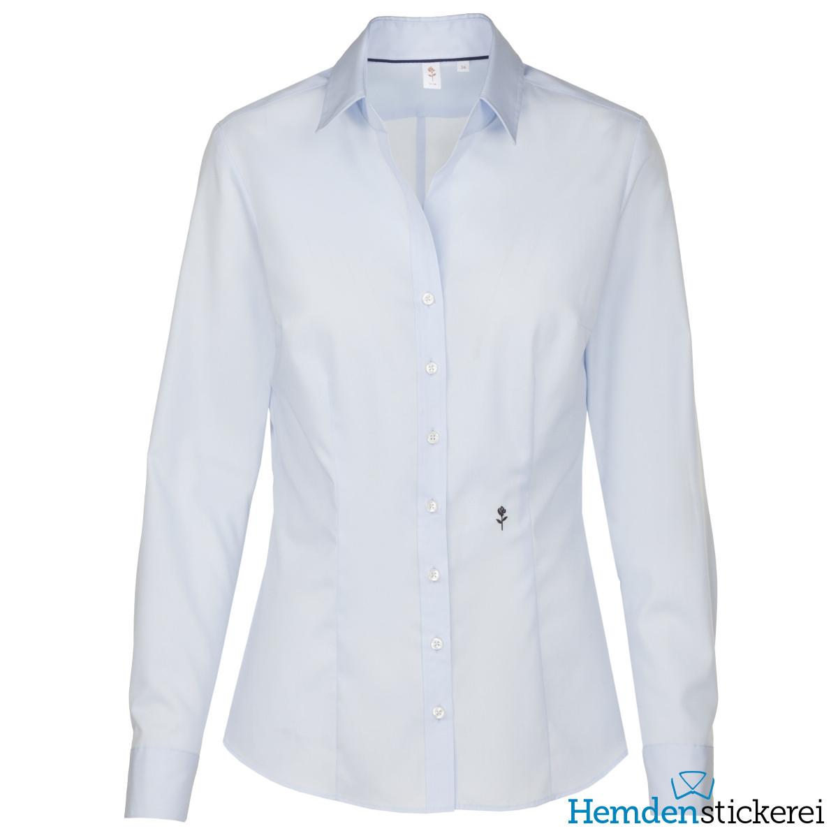 ... Seidensticker Damen Bluse SLIM 1 1 Arm Kent-Kragen bügelfrei Hellblau  Seite zurück. inkl. Stick. lightbox bd31624a8b