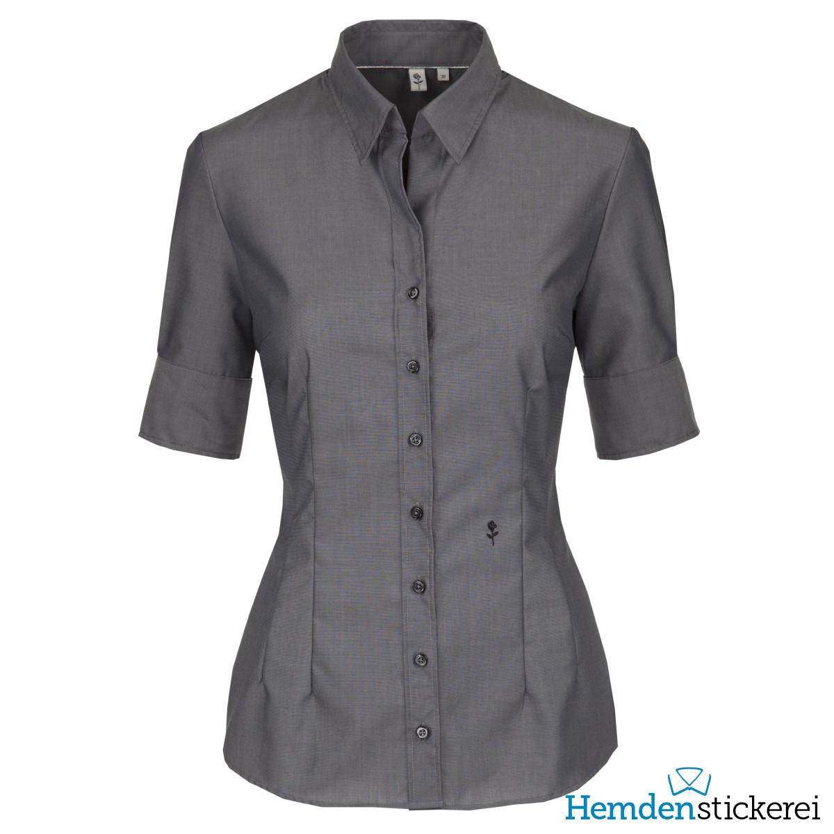 ... Seidensticker Damen Bluse SLIM 1 2 Arm Kent-Kragen bügelfrei Grau Seite  zurück. inkl. Stick. lightbox 206c67b022