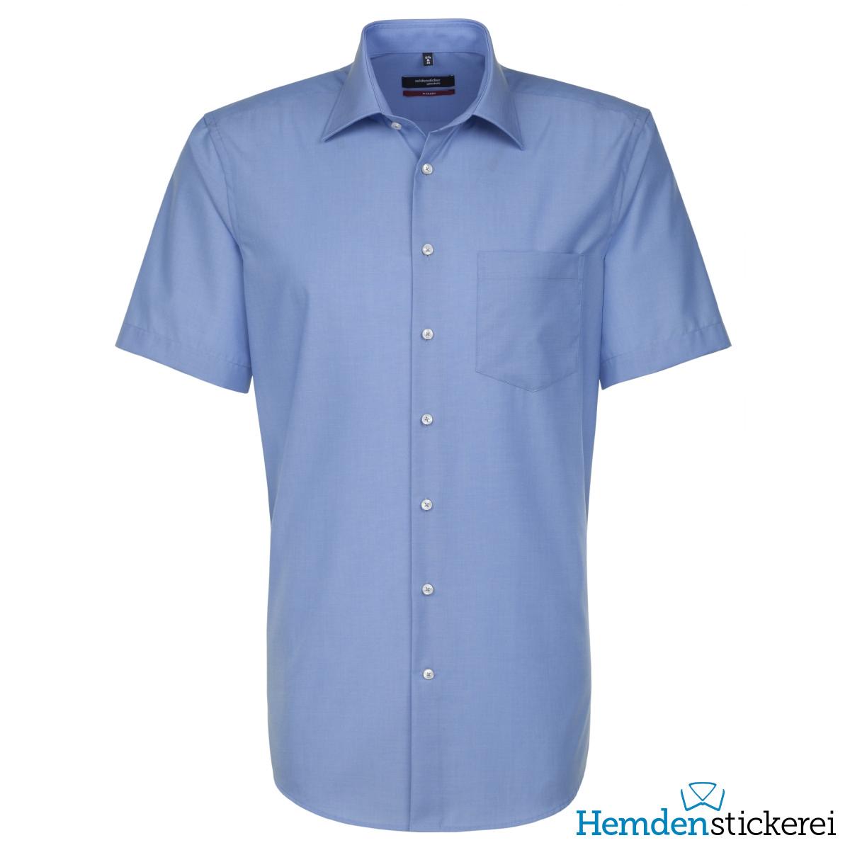 100% Baumwolle Kent Kragen & Brusttasche Bügelfreies Hemd