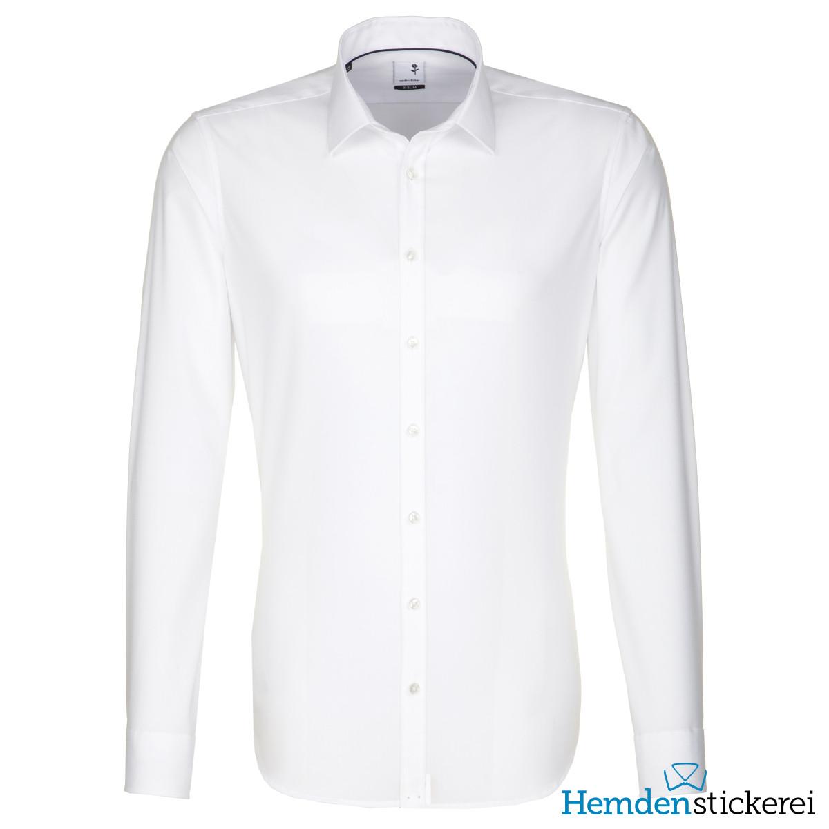 ... Seidensticker Herren Hemd X-SLIM 1/1 Arm Kent-Kragen bügelfrei Weiß  Seite zurück. inkl. Stick. lightbox