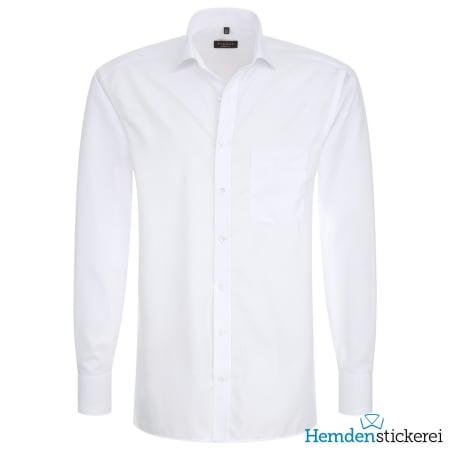 Eterna Hemd MODERN FIT Popeline 1/1 Arm Classic Kent-Kragen Brusttasche Weiß