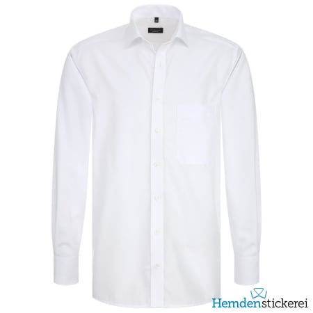 Eterna Hemd COMFORT FIT Popeline 1/1 Arm Classic Kent-Kragen Brusttasche Weiß