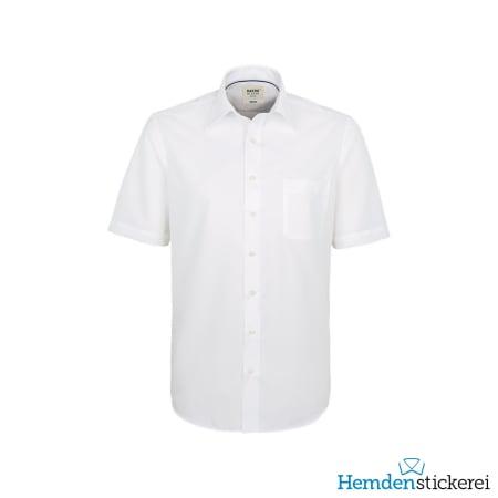Hakro Hemd 1/2 Arm Business Kent-Kragen Brusttasche Weiß