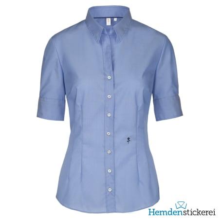 Seidensticker Bluse SLIM 1/2 Arm Kent-Kragen Blau