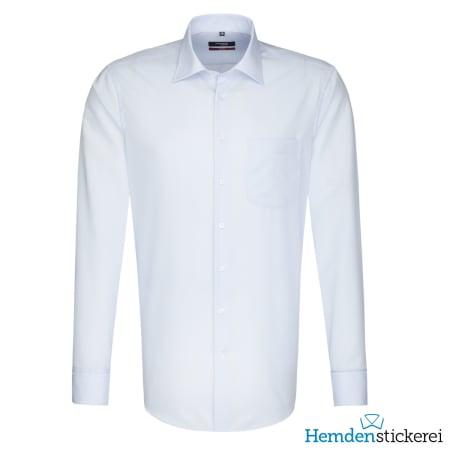 Seidensticker Hemd REGULAR 1/1 Arm Kent-Kragen Brusttasche Blau