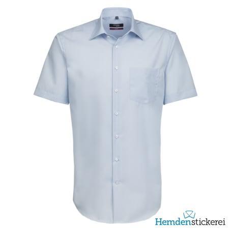 Seidensticker Hemd REGULAR 1/2 Arm Kent-Kragen Brusttasche Hellblau