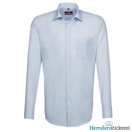 Seidensticker Hemd REGULAR 1/1 Arm Kent-Kragen Brusttasche Hellblau