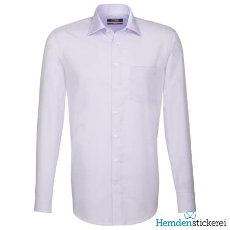 Seidensticker Hemd REGULAR 1/1 Arm Kent-Kragen Brusttasche Rosa/Lila