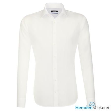Seidensticker Hemd SHAPED 1/1 Arm Kent-Kragen Beige