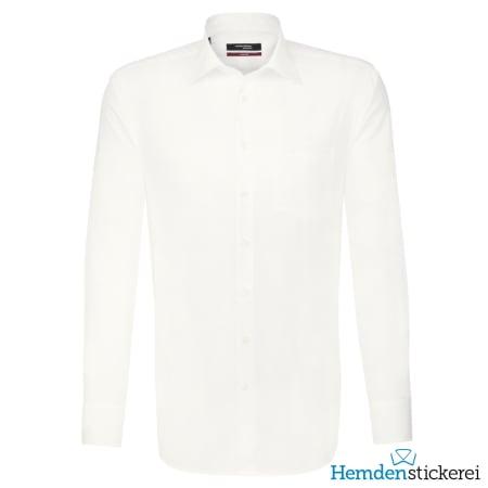 Seidensticker Hemd REGULAR 1/1 Arm Kent-Kragen Brusttasche Beige