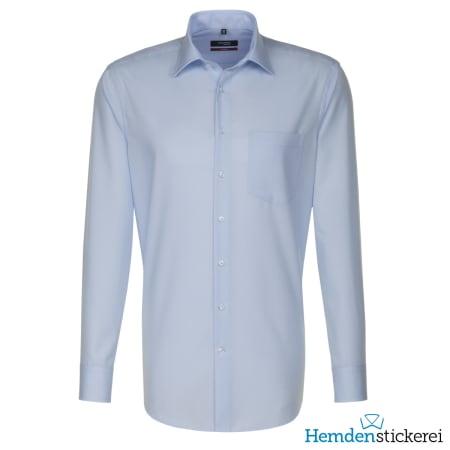 Seidensticker Hemd REGULAR 1/1 Arm Kent-Kragen Brusttasche Blau kariert