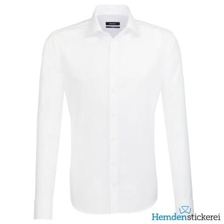 Seidensticker Hemd SHAPED 1/1 Arm Kent-Kragen Weiß
