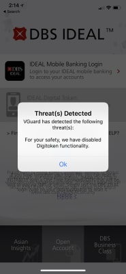 VGuard has detected the following threats