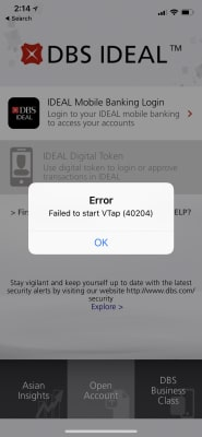 Failed to start VTap