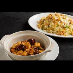 揚州チャーハンとマーボー豆腐のセット