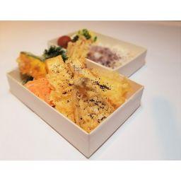 キス・イカと野菜の塩だれ天丼