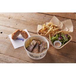 ベイマグロ丼(ベイメンチセット)※ミニサラダ&フレンチフライ付