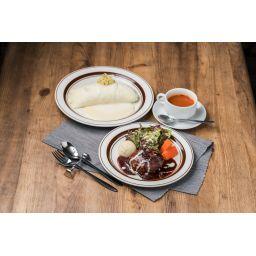 純白のオムライス&大宮特製ハンバーグセット ※画像のスープは含まれていません