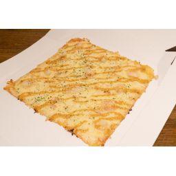 海老とガーリックマヨネーズのピザ