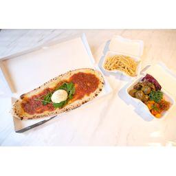 ビーフラグー、ブラータチーズBOX  w/デリ3種、フレンチフライ、ファラフェル
