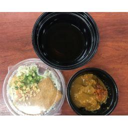 冷やしきつねうどん+ミニカレー丼(インスタント味噌汁付き)