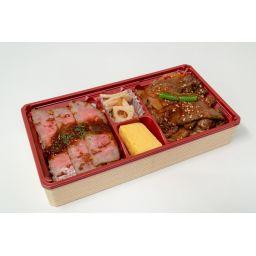 国産牛ステーキと焼肉の合盛弁当【予約のみ 前日の15:00迄】