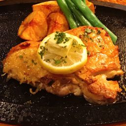 信玄鶏のステーキ