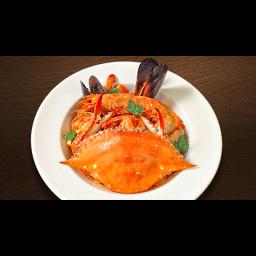 山盛り魚介のペスカトーレ・スパゲティ